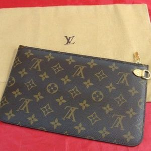 100% AUTH LOUIS VUITTON NEVERFUL GM POUCH MIMOSA